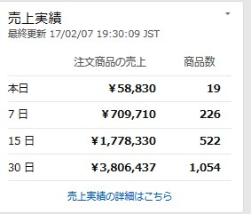 2017 02 07 19h43 32 過去30日間の売上げ発表~!