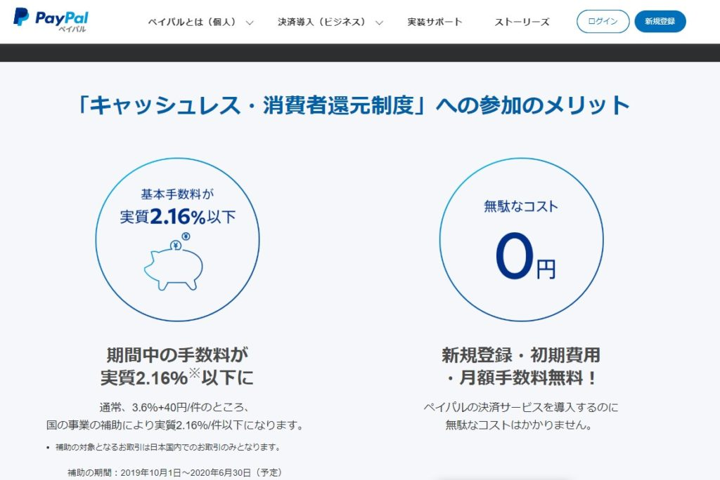 2019 11 14 19h10 32 1024x684 キャッシュレス・消費者還元事業者になって、5%還元アイコンを表示させる方法 ペイパル決済を2.16%以下にする方法