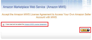 MwsKeyUS05 300x132 アカウントの設定方法:amazon自動メール送信ツール:AmaMail
