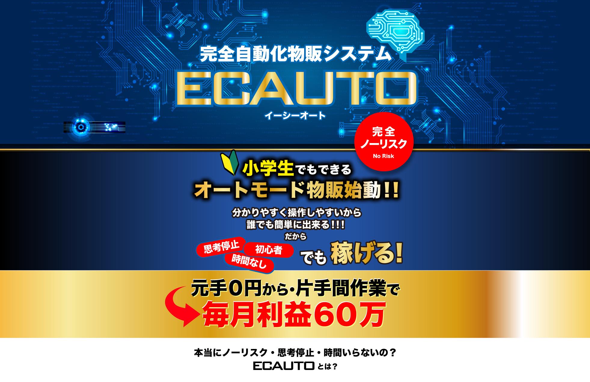 top 1 【TOOL】ECAUTO進め方・使い方マニュアルーTOP- ノーリスク完全自動化物販システム(ヤフオク自動出品ツール)